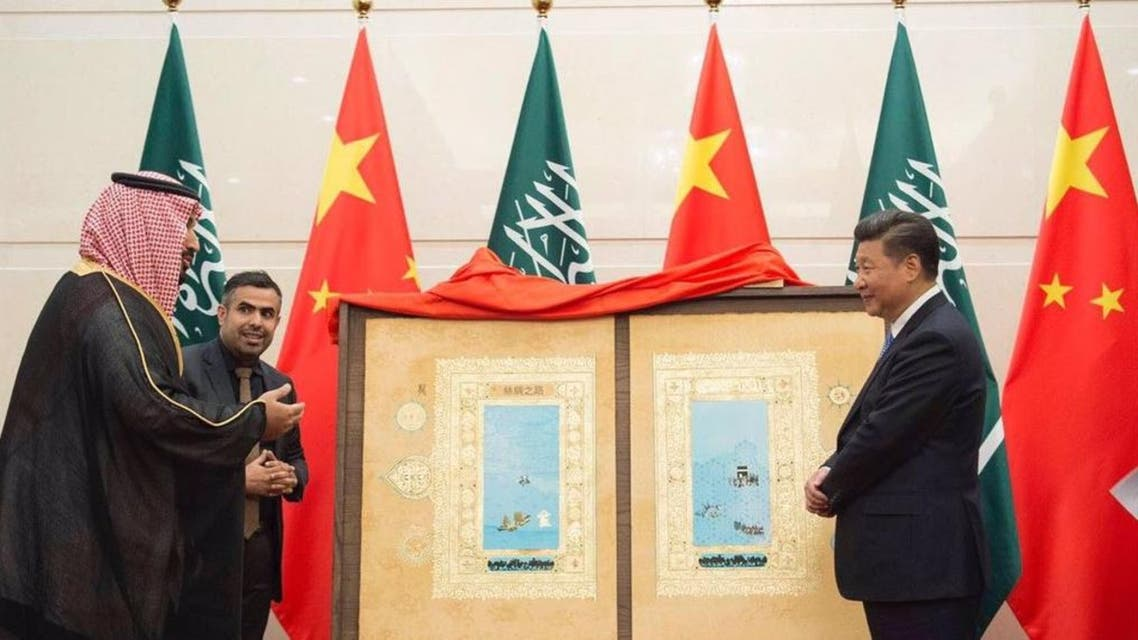 لوحة للرئيس الصيني من الأمير محمد بن سلمان