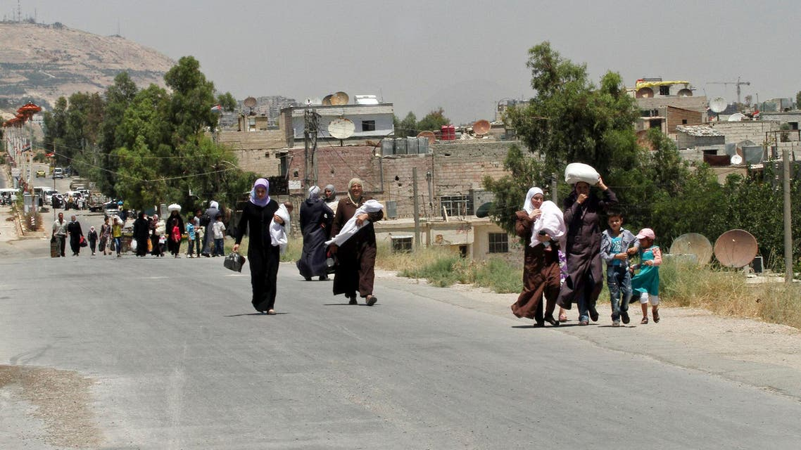 The Syrian capital's western suburb of Moadamiyeh has suffered a three-year government siege that left its estimated 28,000 residents with dwindling food and medical supplies. (File photo: AP)