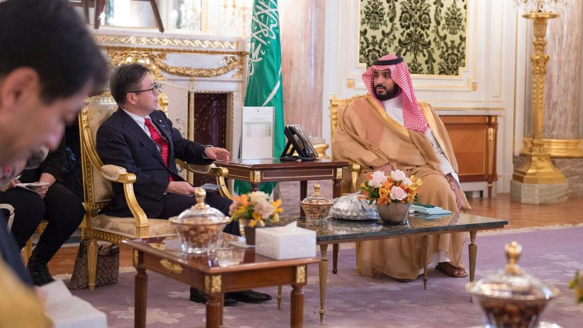 The signing of the MoUs was overseen in Tokyo by Saudi Deputy Crown Prince Mohammed bin Salman and Japanese Prime Minister Shinzo Abe. (SPA)