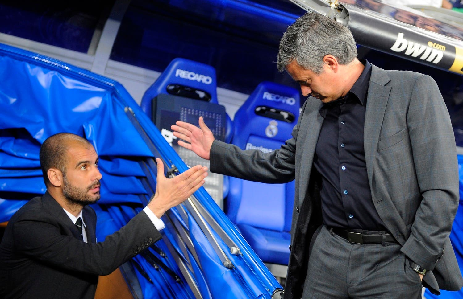 The Mourinho-Guardiola rivalry is back, this time they come face to face at the Manchester Derby, one of the most anticipated games of the EPL. (File photo: Reuters)