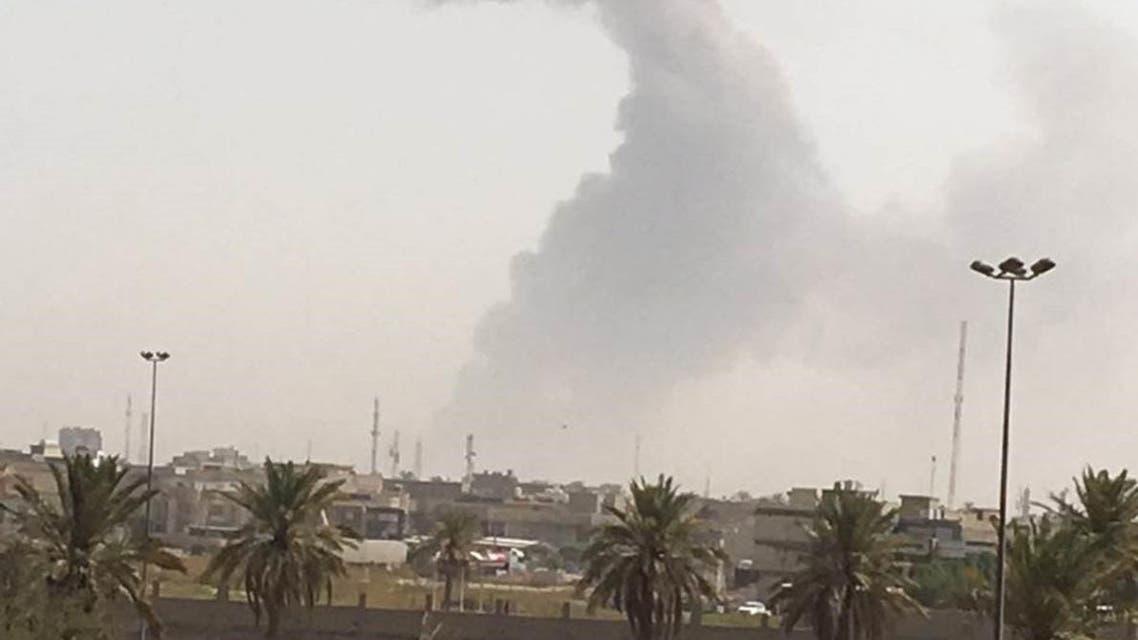 انفجار مخزن أسلحة في بغداد