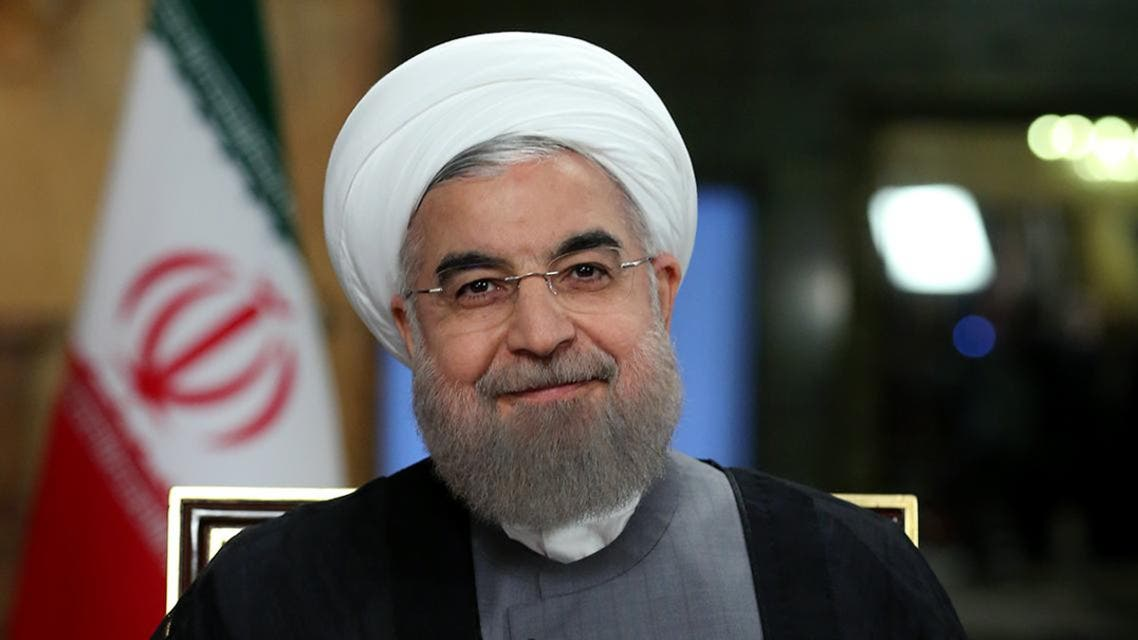 A handout picture provided by the office of Iranian President Hassan Rouhani on August 2, 2016 shows him giving a televised speech in Tehran. AFP