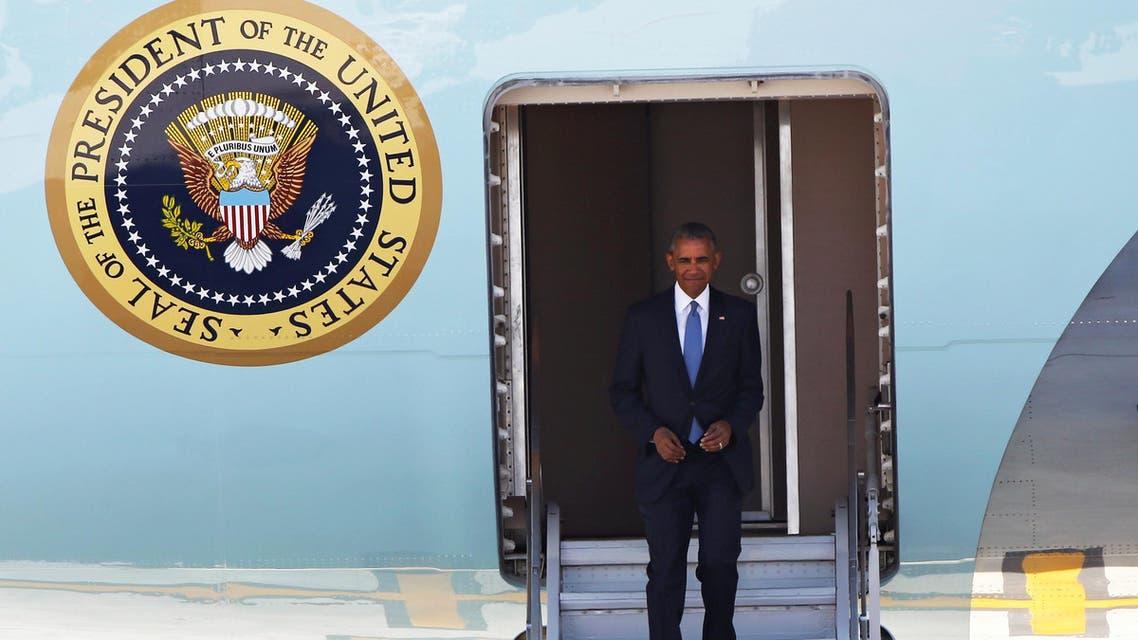 US President Barack Obama arrives at Hangzhou Xiaoshan international airport before the G20 Summit in Hangzhou, Zhejiang province, China September 3, 2016. REUTERS