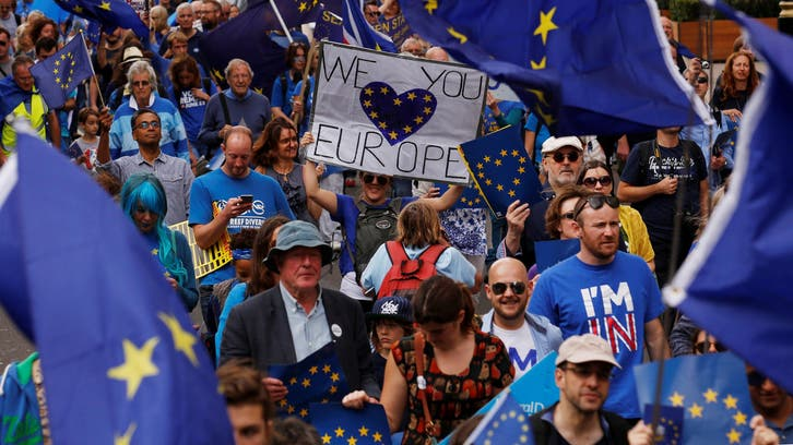 تظاهرة في لندن احتجاجا على الخروج من الاتحاد الأوروبي