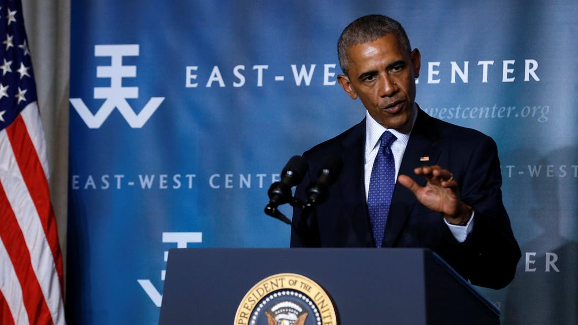 U.S. President Barack Obama delivers remarks to the Pacific Islands Conference of Leaders at the East West Center in Honolulu, Hawaii, U.S. August 31, 2016. REUTERS/Jonathan Ernst