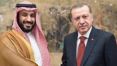 محمد بن سلمان يستعرض أوضاع المنطقة مع الرئيس التركي