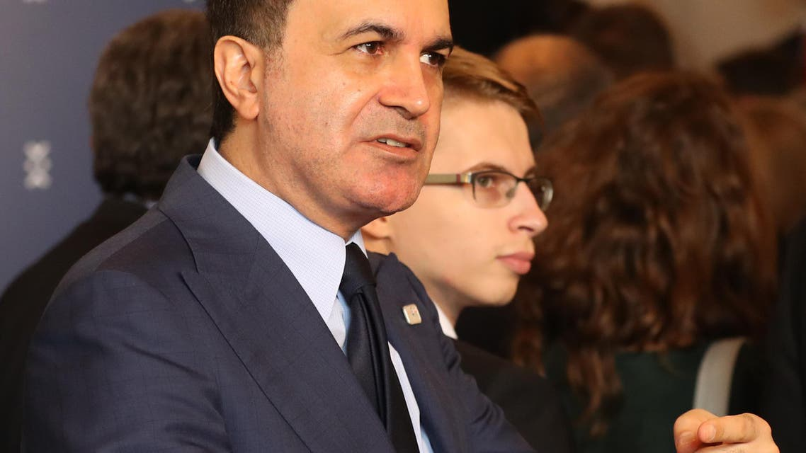 Turkey's minister for EU affairs Omer Celik gestures during the Informal Meeting of EU Foreign Ministers in Bratislava, Slovakia, on Sept. 3, 2016. EU foreign ministers are urging Turkey to honor European human rights norms. (AP)