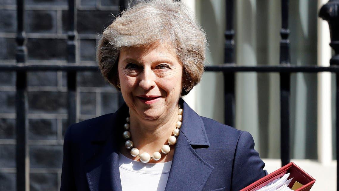 UK prime minister Theresa May  (AP)