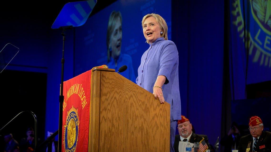 Democratic presidential nominee Hillary Clinton addresses the National Convention of the American Legion in Cincinnati, Ohio, U.S., August 31, 2016. REUTERS