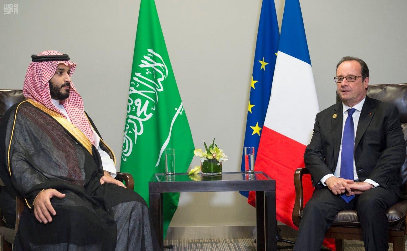 الأمير محمد بن سلمان يلتقي الرئيس الفرنسي فرانسوا هولاند