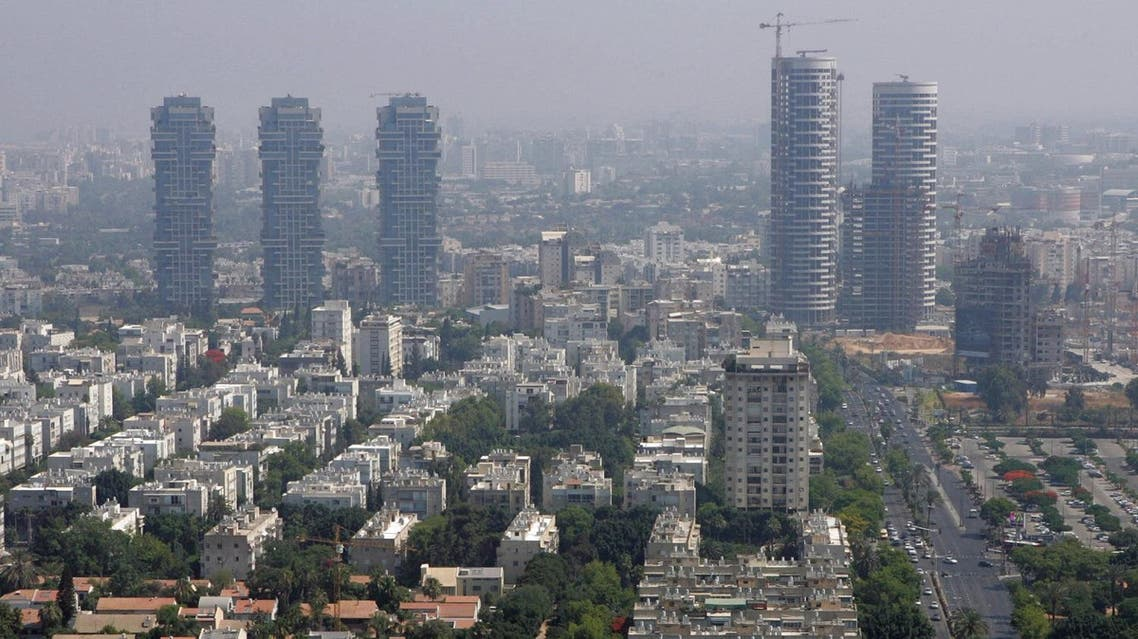 A picture shows a general view of the skyline of the Israeli city of Tel Aviv. (File photo: AFP)