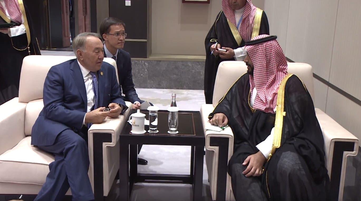 الأمير محمد بن سلمان مع رئيس كازاخستان