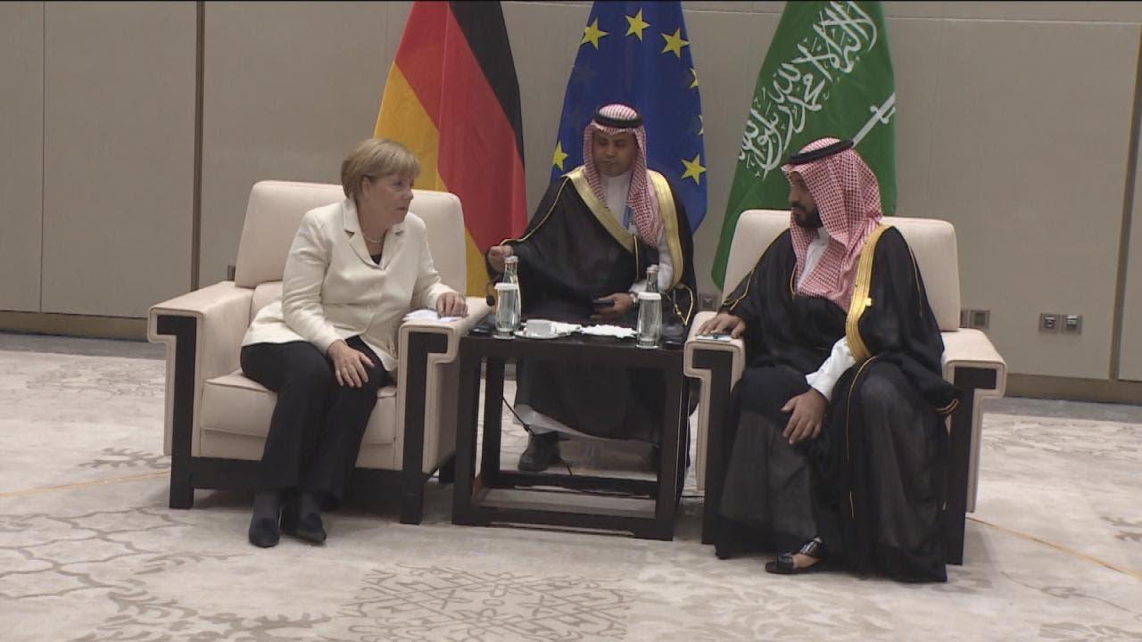الأمير محمد بن سلمان مجتمعا مع المستشارة الألمانية أنجيلا ميركل