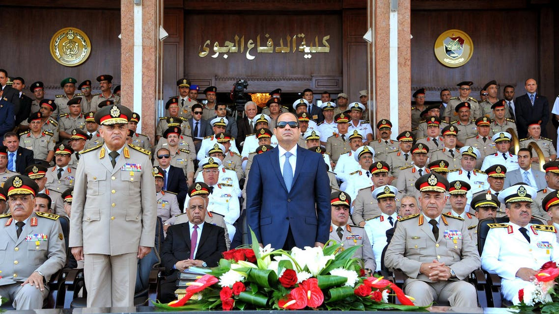 Maj-Gen. Mohammed Ali el-Sheikh (left), an Egyptian army general who retired about 18 months ago, has been named the  supply minister, a key posting that will oversee the distribution of subsidized basic food items. (File: AP)