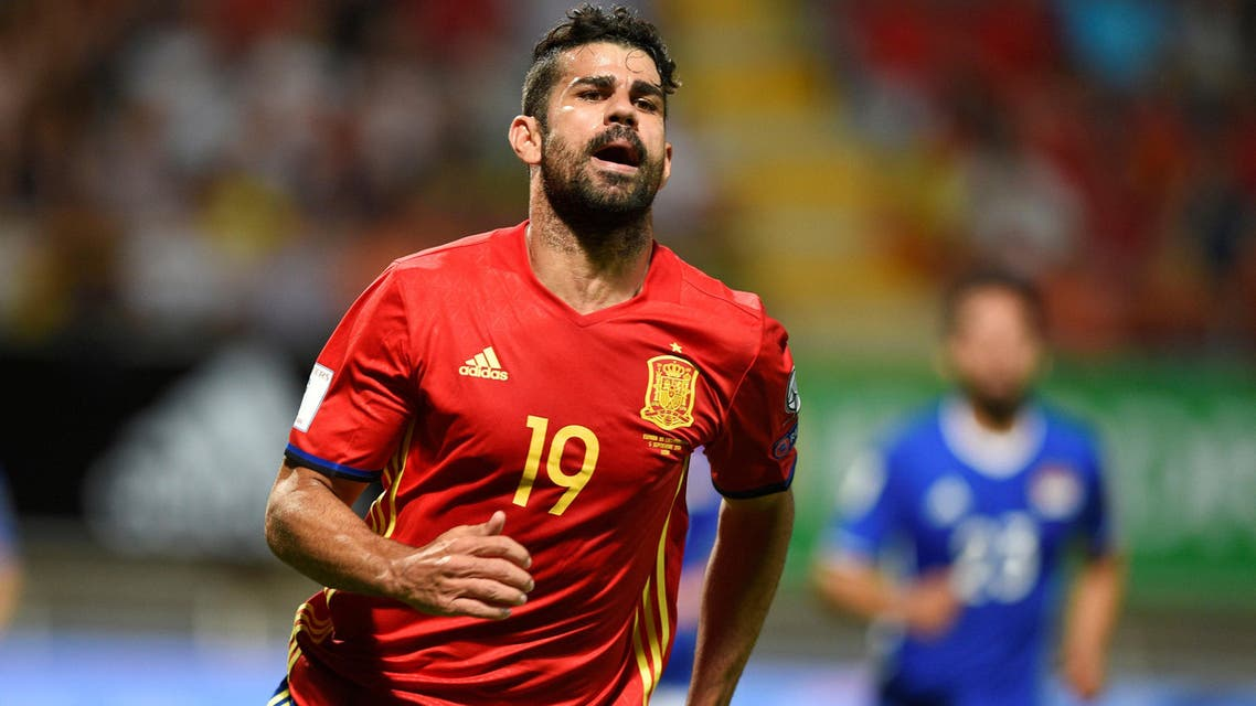 Spain's Diego Costa in action. REUTERS