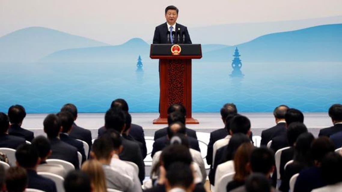 الرئيس الصيني متحدثاً في ختام قمة العشرين