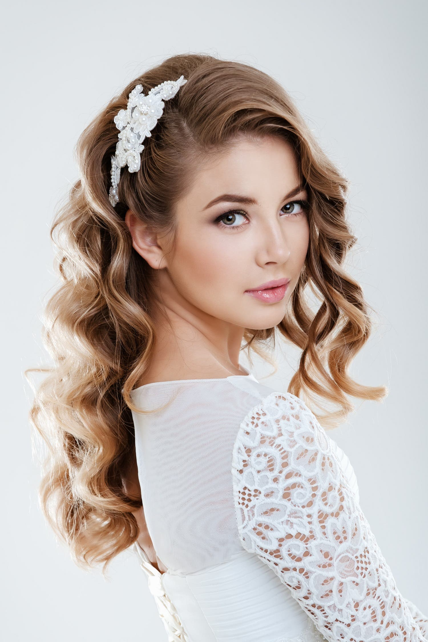 Choosing The Perfect Hairstyle To Match Your Wedding Dress Al - Hairstyle with wedding gown