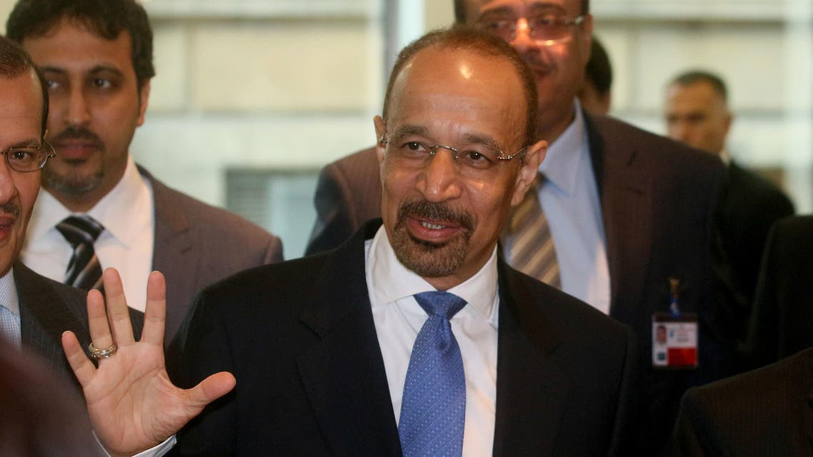 Khalid Al- Falih Minister of Energy. Industry and Mineral Resources of Saudi Arabia arrives prior to the start of a meeting of OPEC, at their headquarters in Vienna, Austria, Thursday, June 2, 2016. (AP)