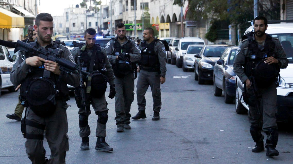 Israeli police secure the area after a shooting attack in Jerusalem Tuesday, March 8, 2016. aP
