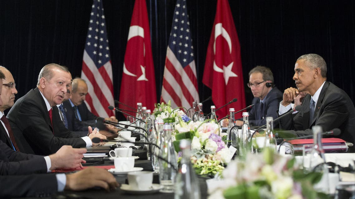 """""""Obama wants to do some things together concerning Raqqa in particular,"""" Erdogan said. (AFP)"""