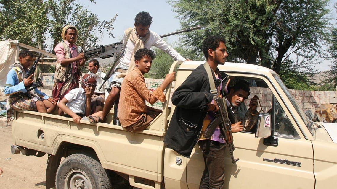 عناصر من المقاومة الشعبية اليمنية في تعز 3