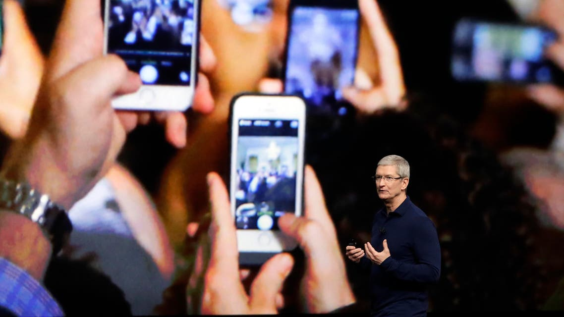 Apple CEO Tim Cook announces the new iPhone 7 during an event to announce new products Wednesday, Sept. 7, 2016, in San Francisco. (AP)