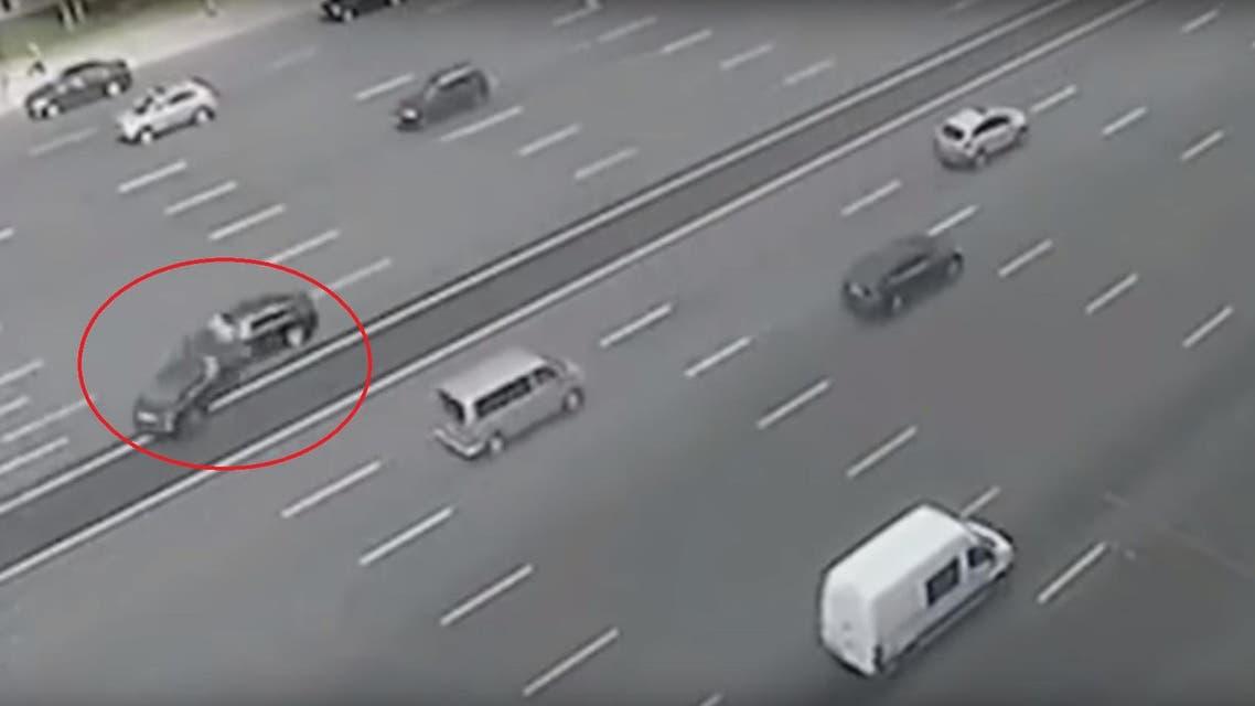 putin car crash russia cc-tv