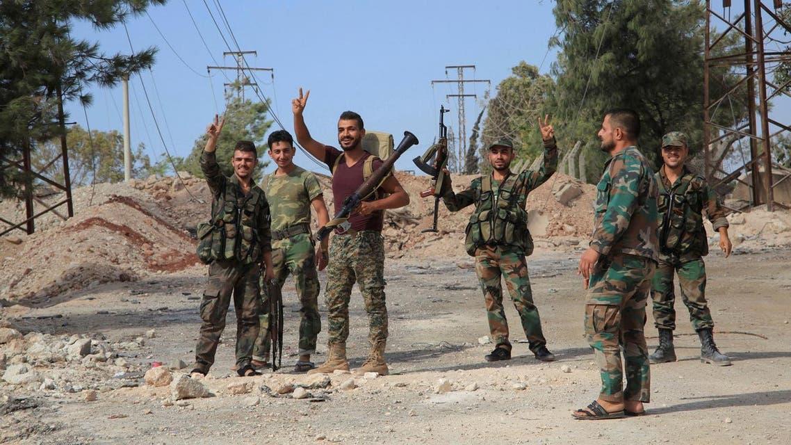 assad loyal forces