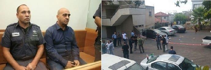 محققون واعلاميون في مكان الجريمة، ورئيس البلدية بعد أن سلم نفسه