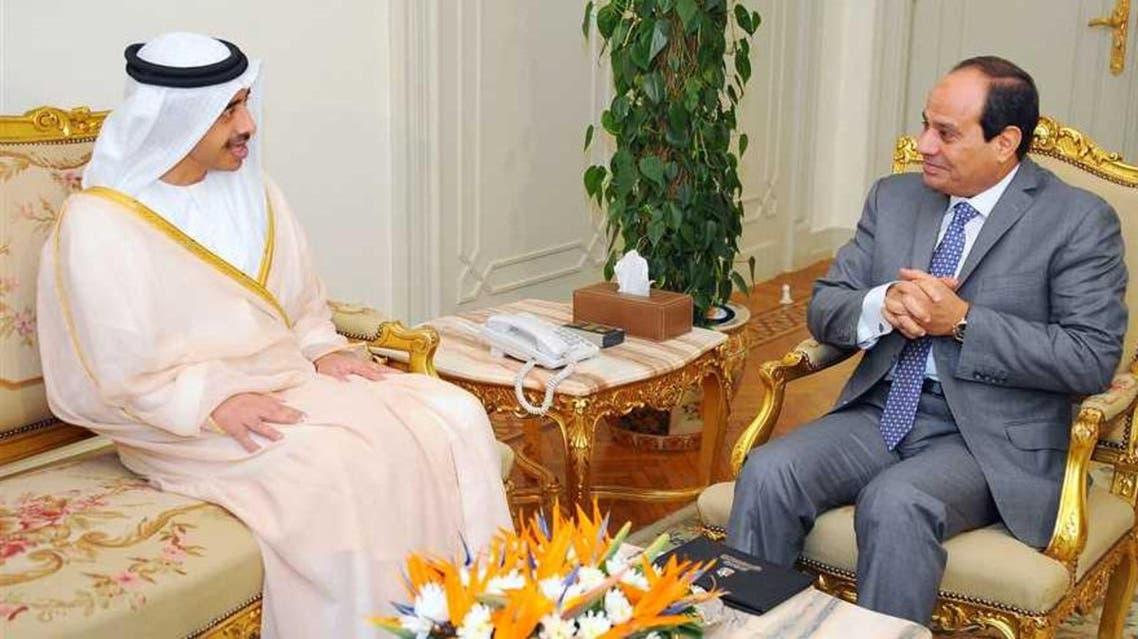 الرئيس المصري عبدالفتاح السيسي يستقبل وزير خارجية الإمارات عبدالله بن زايد