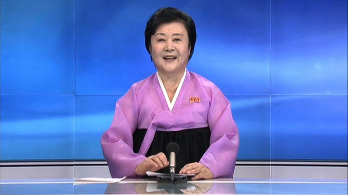 Wearing her trademark pink and black traditional Korean dress, veteran announcer Ri Chun-Hee smiled as she told viewers of KCTV about the latest test. (AFP)