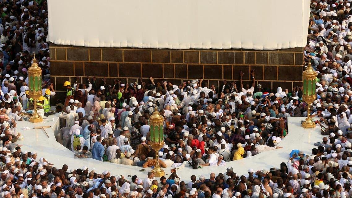 Muslim pilgrims circle the Kaaba at the Grand mosque in Makkah, Saudi Arabia. (Reuters)