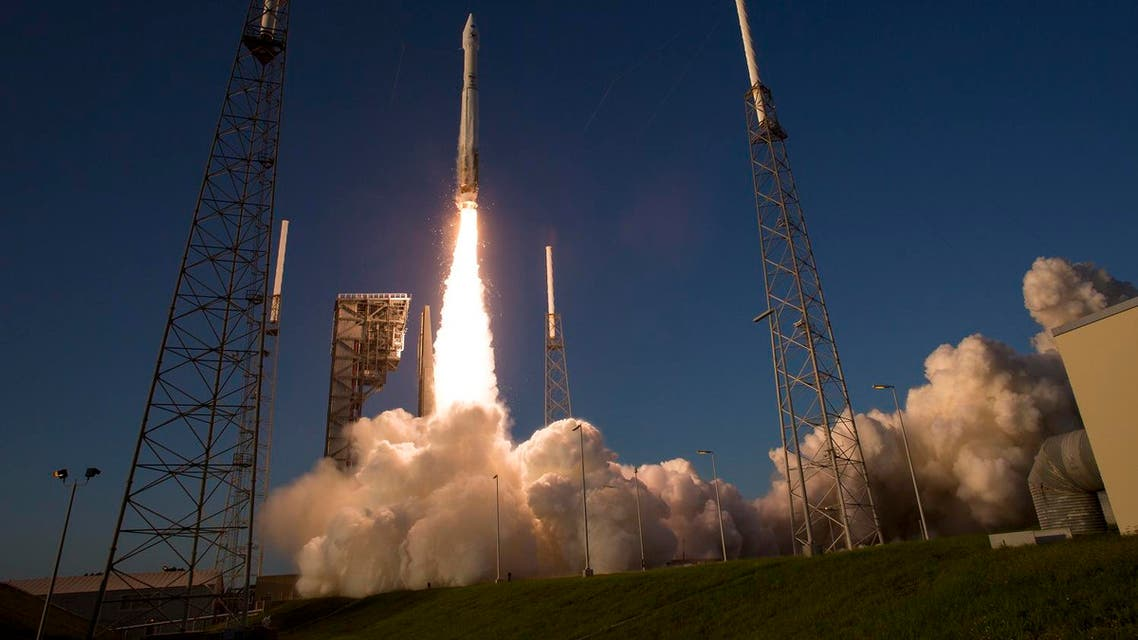 A United Launch Alliance Atlas V rocket carrying the Origins, Spectral Interpretation, Resource Identification, Security-Regolith Explorer (OSIRIS-REx) spacecraft lifts off from launch complex 41 at the Cape Canaveral Air Force Station. (AP)