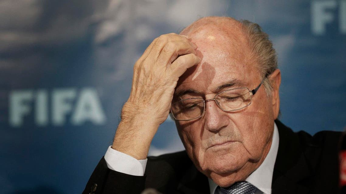 In this Dec. 19, 2014 file photo then FIFA President Sepp Blatter attends a news conference in Marrakech, Morocco. The FIFA ethics committee said Friday, Sept. 9, 2016 it opened formal proceedings against Blatter, former secretary general Jerome Valcke and former finance director Markus Kattner over million-dollar payments in their contracts — some of which were approved by other senior FIFA officials. (AP Photo/Christophe Ena, File)