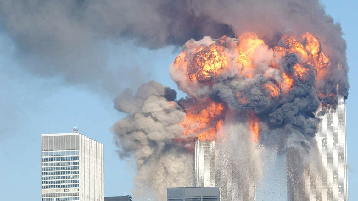 A fiery blasts rocks the World Trade Center after being hit by two planes Sept. 11, 2001 in New York City (File Photo: Spencer Platt/Getty Images/AFP)