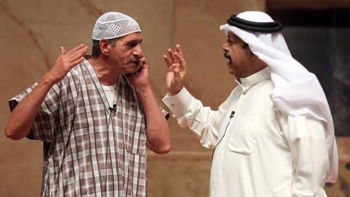 عبدالعزيز جاسم مع عبدالناصر درويش في طار الوزير