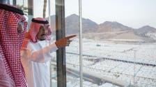 Saudi Arabia's King Salman arrives in Mina