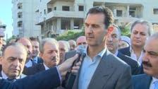 الأسد يهدد من على أنقاض داريا