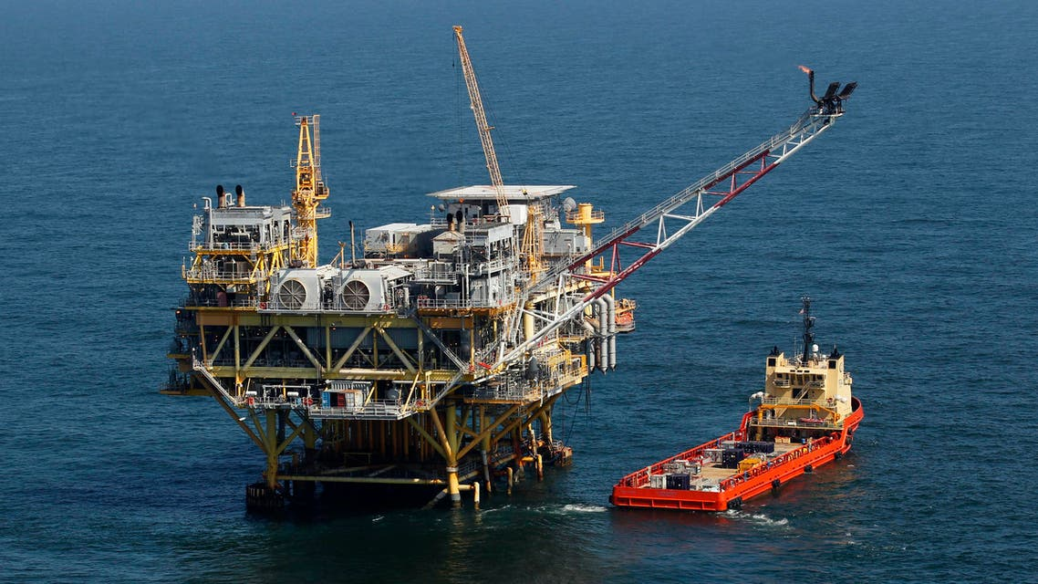 A rig and supply vessel in the Gulf of Mexico, off the cost of Louisiana. (File Photo: AP)