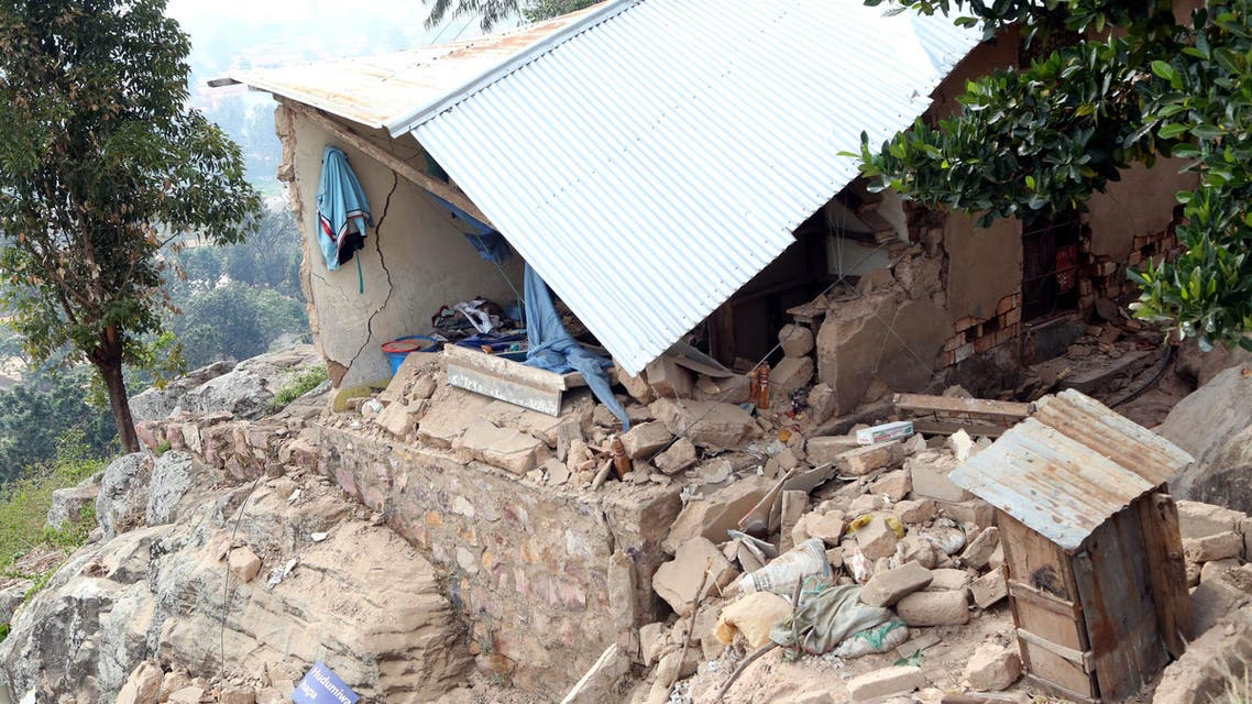 This photo taken on September 10, 2016 in the Bukoba region, northwest Tanzania, shows houses damaged following an earthquake measured 5.7 magnitude which struck the country's Lake Zone. (File photo: AFP)