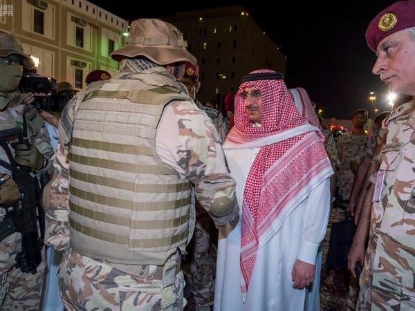 الأمير محمد بن نايف يتفقد قوات الأمن الخاصة بمكة