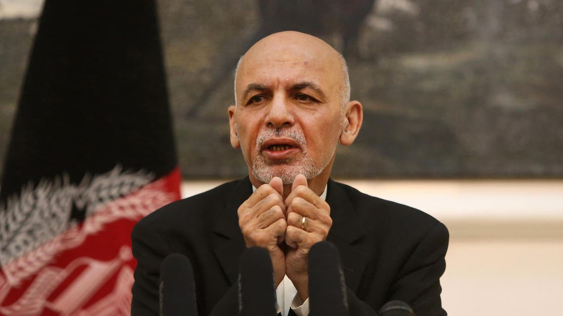 Afghan President Ashraf Ghani speaks during a press conference at the presidential palace in Kabul, Afghanistan, Monday, July 11, 2016. ap