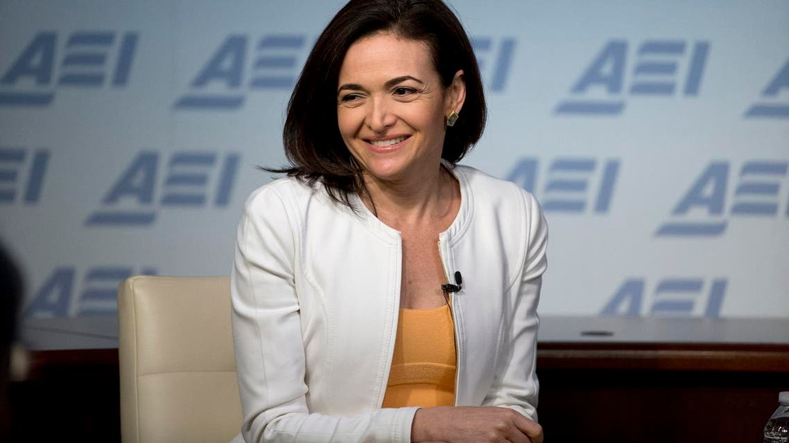 Facebook Chief Operating Officer Sheryl Sandberg speaks at the American Enterprise Institute, Wednesday, June 22, 2016 in Washington. (AP Photo/Alex Brandon)