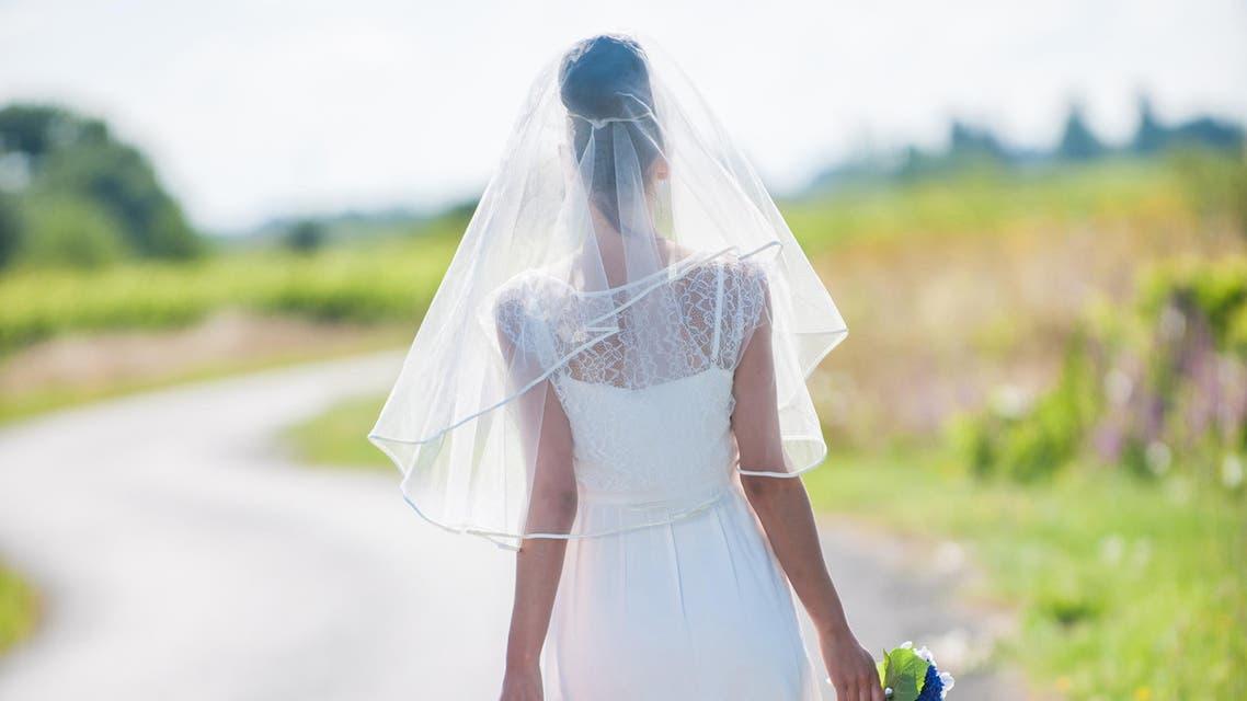 bride hitchhiking