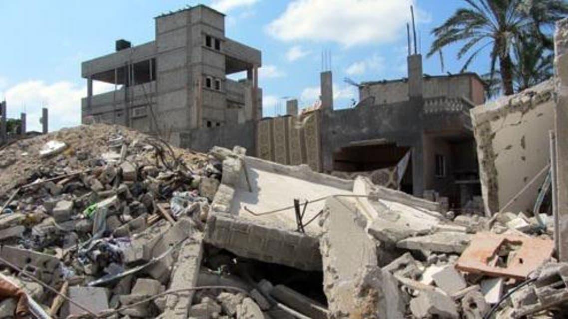 أنقاض منزل عبير أبوجبر في غزة