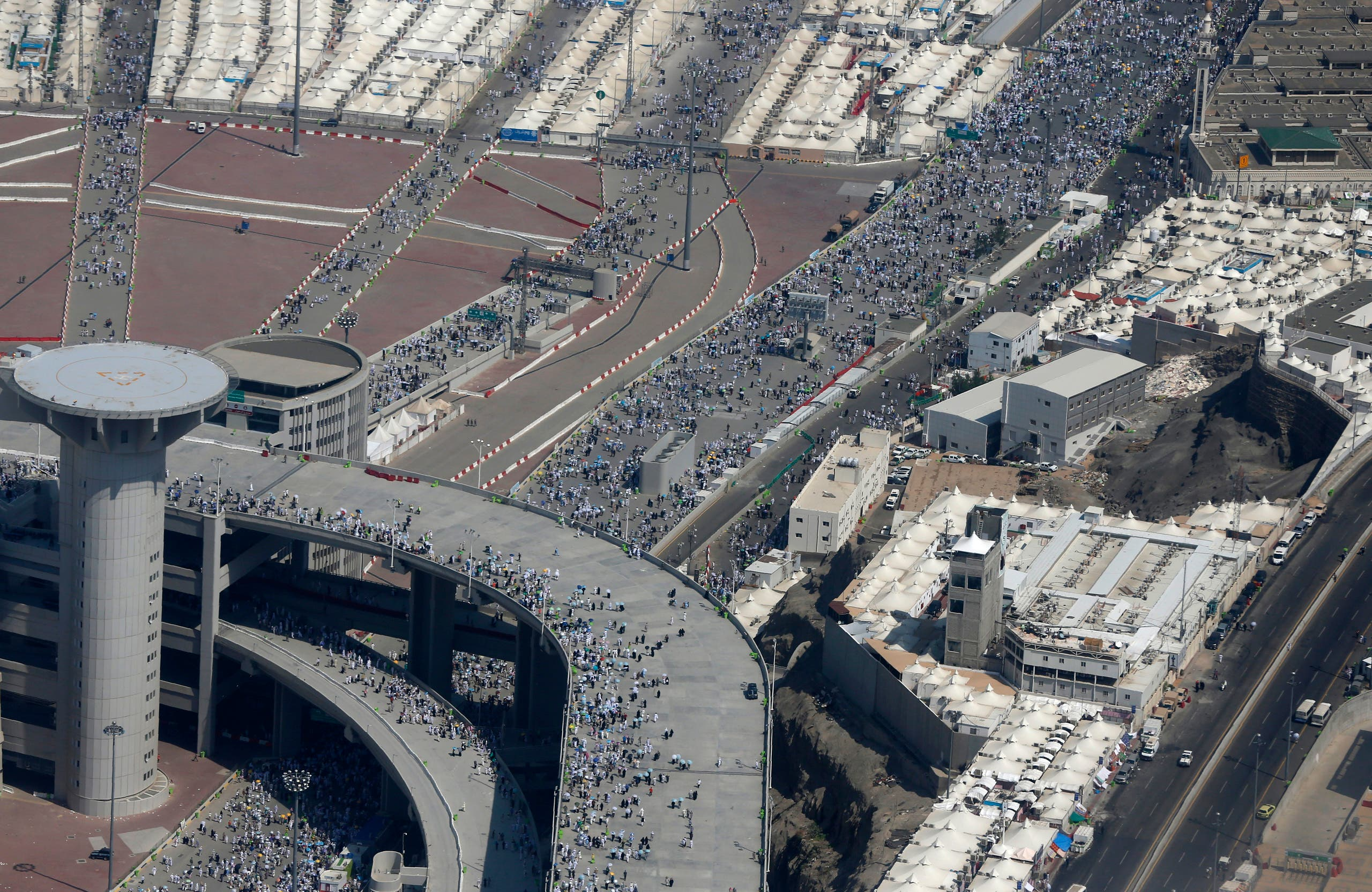 Bird's eye view of the holy pilgrimage
