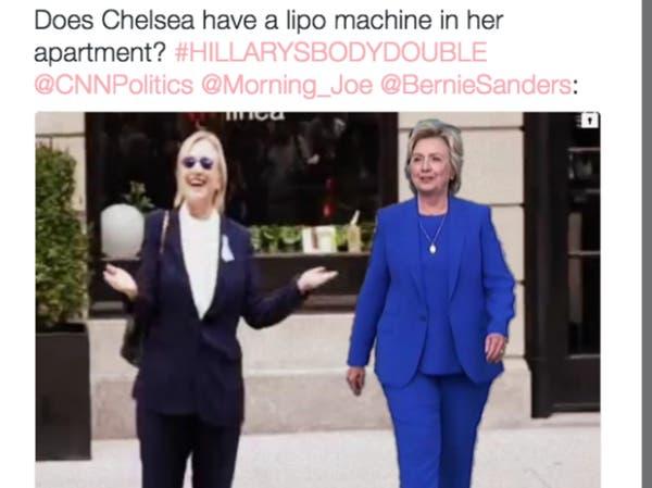 بالصور.. هل استبدلت هيلاري كلينتون بشبيهة لها؟