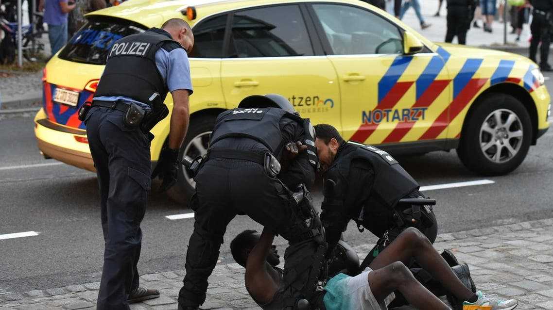 Police reported verbal and violent attacks have erupted between about 80 far-right activists and about 20 young asylum seekers (Photo: Christian Essler, XCITEPRESS/dpa via AP)