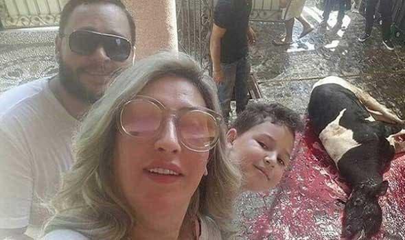 الفنان أحمد رزق وزوجته