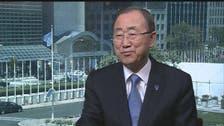 Ban Ki Moon tells Al Arabiya News aid workers' safety is key in Syria